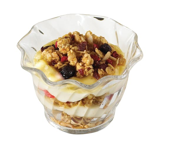 SRB5152 SAN Clear 5 oz Swirl Bowl w/ Parfait