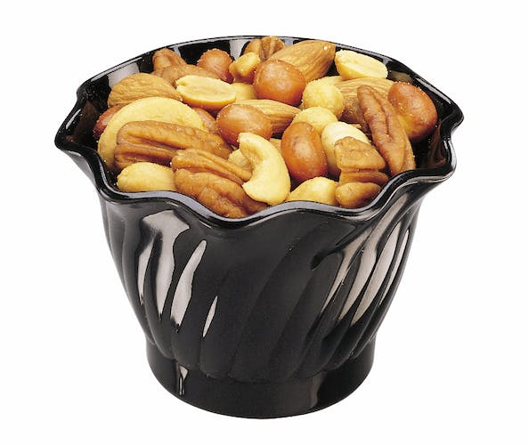 SRB5CW110 Camwear Black 5 oz Swirl Bowl w/ Nuts