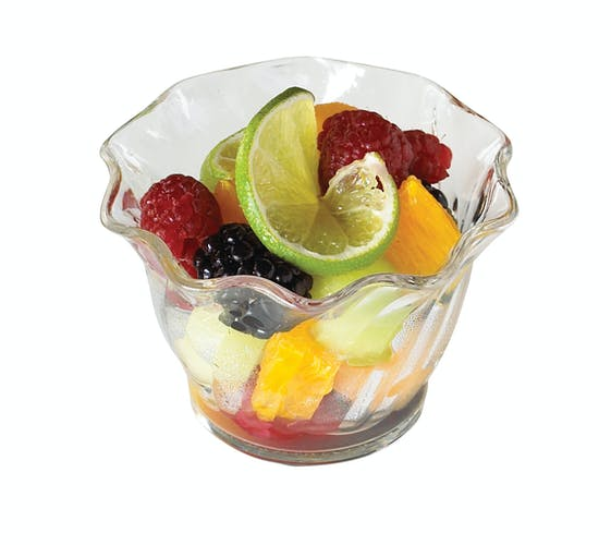 SRB5CW135 Camwear Clear 5 oz Swirl Bowl w/ Fruit