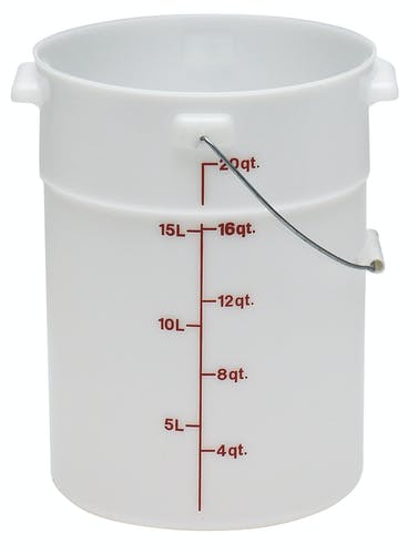 PWB22148 White Poly Pail w/ Bail