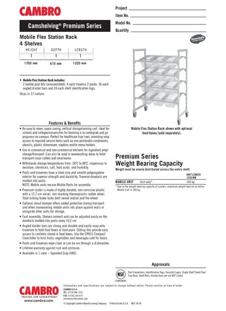 Metric Cut Sheet