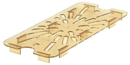 30HPD150 Amber Third Size H-Pan Drain Shelf