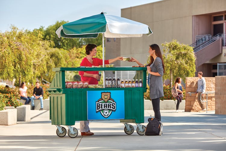 CVC72519 Kentucky Green Camcruiser Vending Cart w/ Student 2