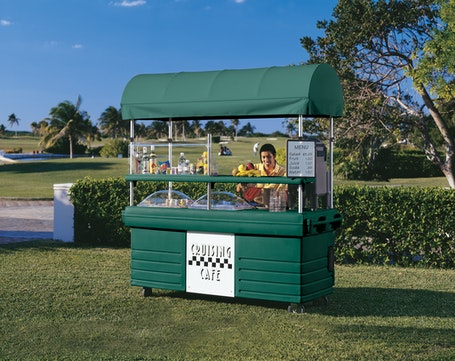 KVC856C519 Kentucky Green CamKiosk Vending Cart on Grass