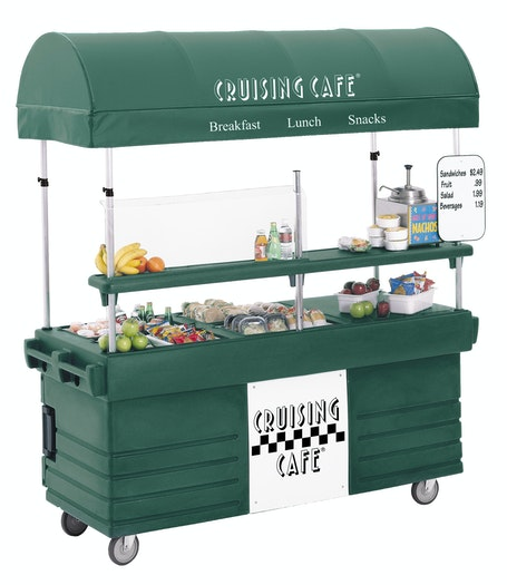 KVC854C519 Kentucky Green CamKiosk Vending Cart w Snacks