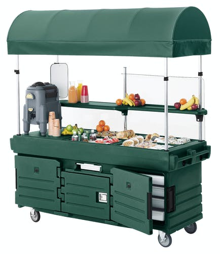 KVC854C519 Kentucky Green CamKiosk Vending Cart from Back