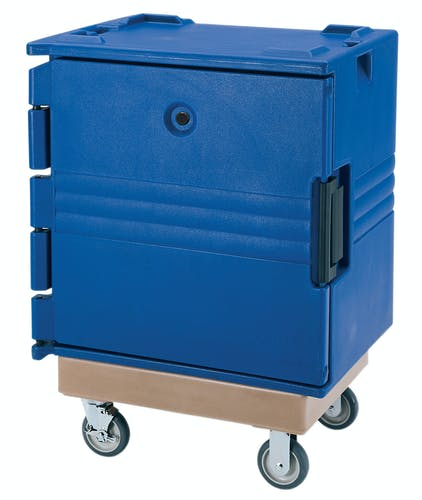 BK60407 Navy Blue 7-Rail Insulated Bakery Container w Dolly