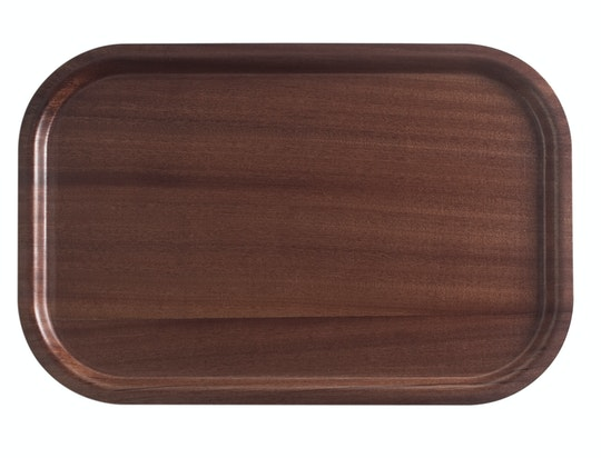 Mahogany Wood Trays With Non-Slip Surface