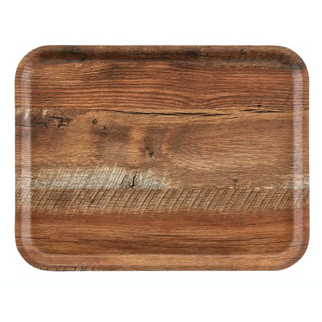 Подносы Madeira – ламинированные подносы с текстурированной деревянной поверхностью