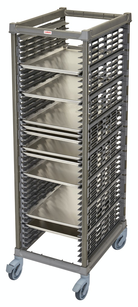 "UPR1826FP40580 Full Size Ultimate Sheet Pan Rack w 1.5"" Spacing & Plastic Casters"