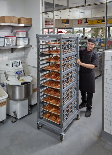 """UPR1826F20580 Full Size Ultimate Sheet Pan Rack w 3"""" Spacing & Croissants"""
