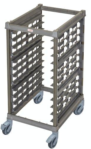"UPR1826HP12580 Half Size Ultimate Sheet Pan Rack w 3"" Spacing & Plastic Casters"