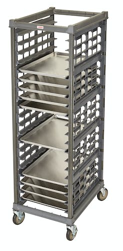 "UPR1826FA20580 Full Size Ultimate Sheet Pan Rack w 3"" Spacing & Metal Casters"