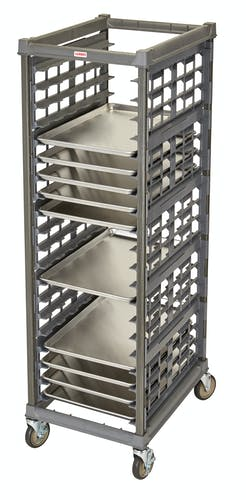 "UPR1826FA20580 Full Size Ultimate Sheet Pan Rack w 3"" Spacing & Metal Casters"