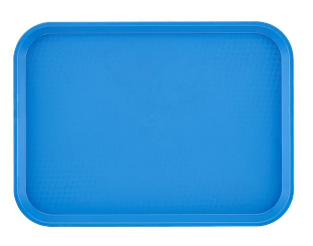 "1216FF168 Tray Fast Food 12"" X 16"" Blue"