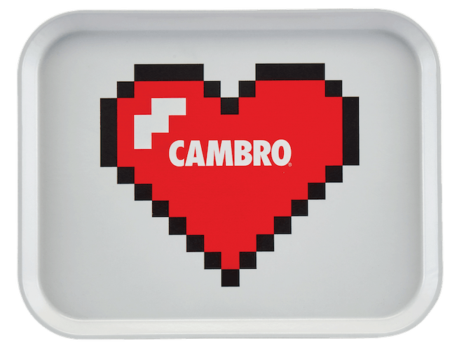 1418PER100 Cambro Heart Personalized White Camtray