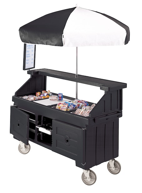 CVC724110 Black Camcruiser Vending Cart