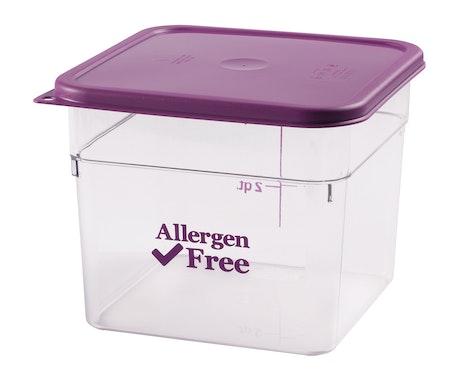 SFC6SCPP441 Allergen-Free Purple Square Cover w Container