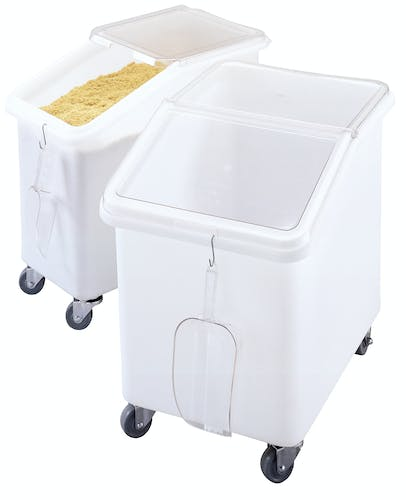 IBS37148 White 37 Gal. Ingredient Bin w 27 Gal. Bin