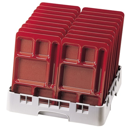 1596CW416 Cranberry 2 x 2 Compartment Tray w Camrack