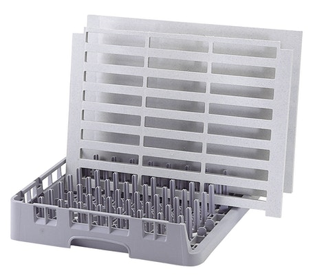 OETR314151 Soft Gray Open End Tray Rack w Vented Shelving