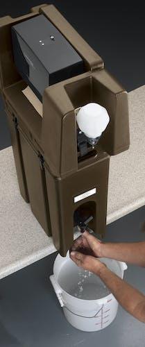 HWATD131 Handwash Accessory With Multi-Fold Towel Dispenser Dark Brown