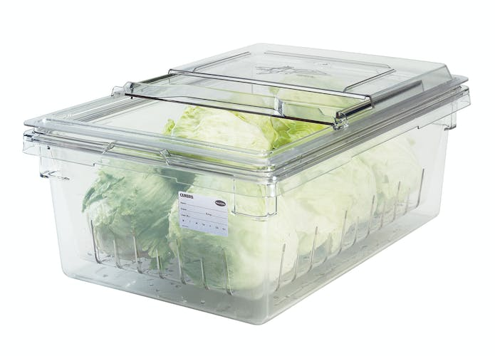 "18268CLRCW135 Camwear® Food Box Colander 8"" Deep Clear"