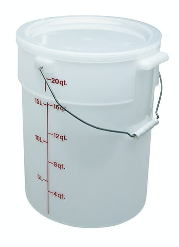 RFSC12148 Poly Round Cover on Pail with Bail