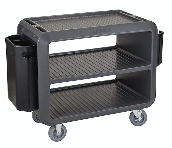 SC337615 Charcoal Gray Service Cart Pro - w Large Bin