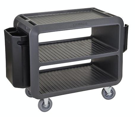 SC337615 Charcoal Gray Service Cart Pro - w Large Bin