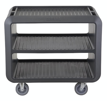 SC337615 Charcoal Gray Service Cart Pro - Front Face