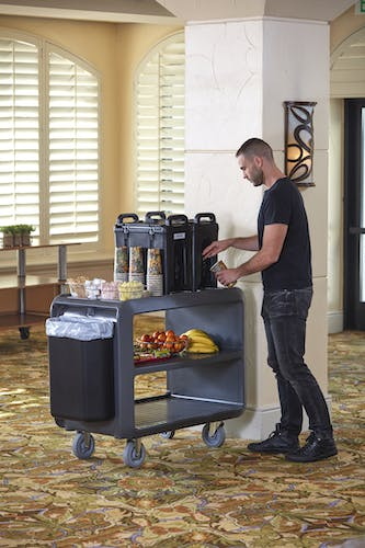 SC337615 Charcoal Gray Service Cart Pro - Front of House