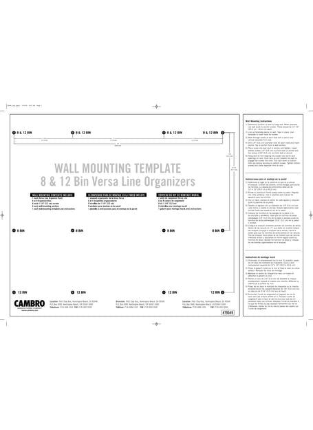 Versa Bin Mounting Instructions