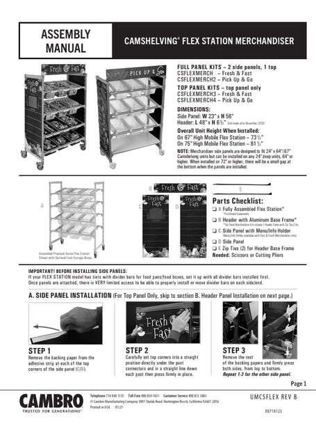 Merchandiser Installation Manual