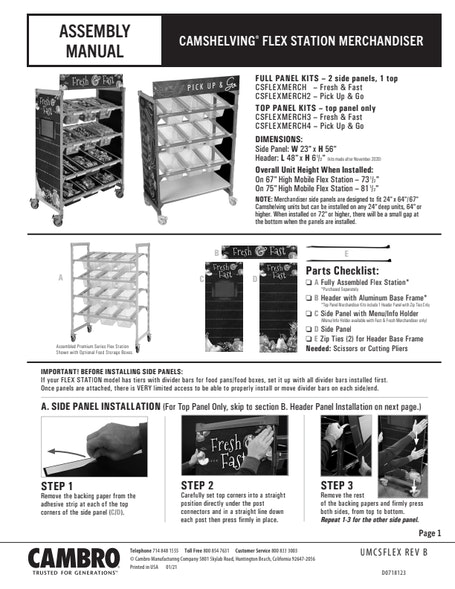 Merchandiser Installation Manual
