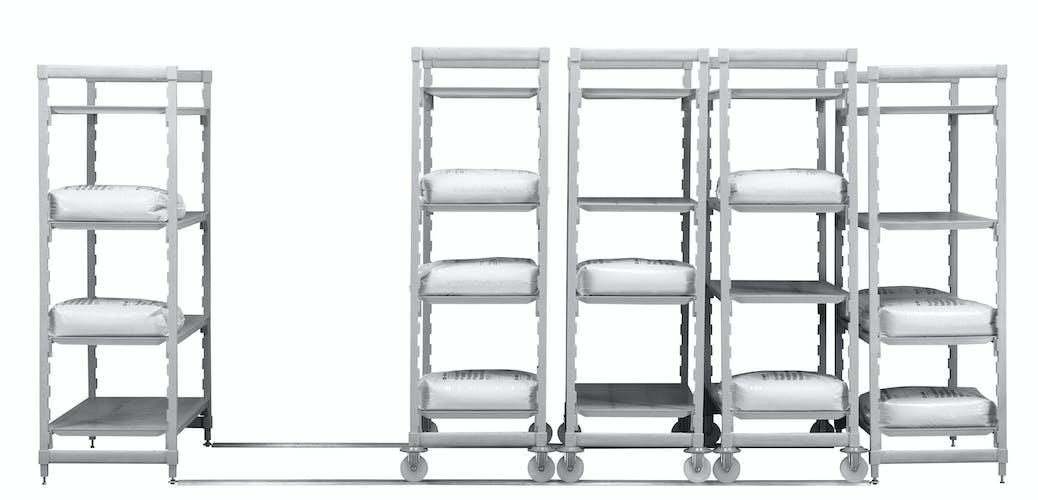 CPHU244875V4480 Camshelving® Premium High Density Mobile 4V 24X48X75 Speckled Gray