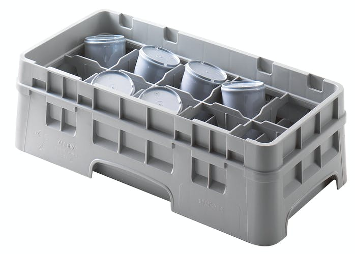 "10HC414151 10 Compartment Half Size Cup Camrack® 4 1/4"" Gray"