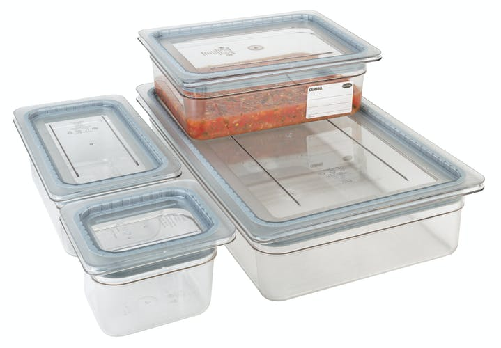 60CWGL135 Food Pan Griplid 1/6 Camwear® Clear