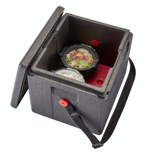 EPP280WSTSW110 Half-Size Black GoBox with Adjustable Strap with Food