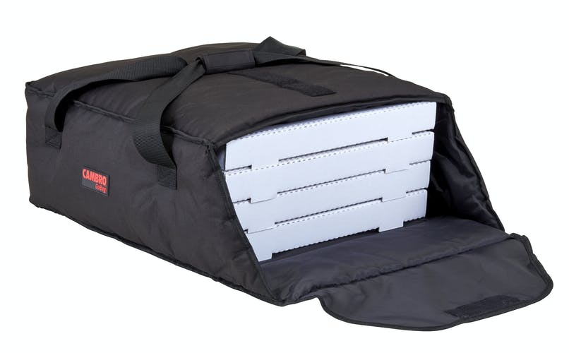 "GBP318110 Black Pizza GoBag - 3 18"" Pizza Box Capacity"