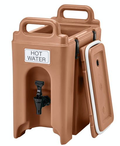250LCD157 Camtainer® 2.5 Gallon Capacity Coffee Beige Open