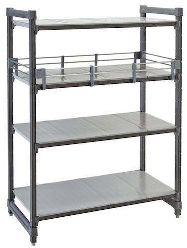 CBR1830151 Camshelving® Basics Plus Series Rail Kit Full 18X30 Gray