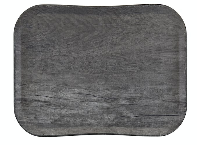 VTC3343TF91 Versa Century Polyester Wood Grain Tray 33 x 43 cm Gray Oak