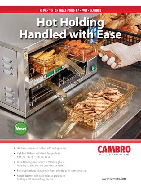 High Heat Food Pans Spec Sheet