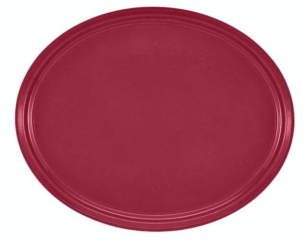 "2500505 Camtray 19"" X 24"" Oval Cherry Red"