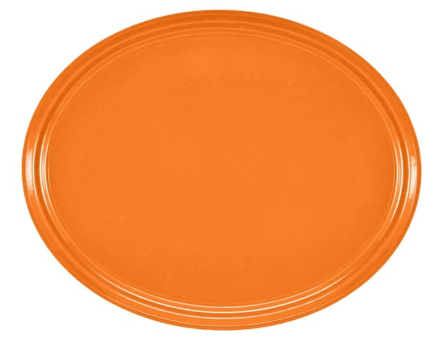 "2500222 Camtray 19"" X 24"" Oval Orange Pizzazz"