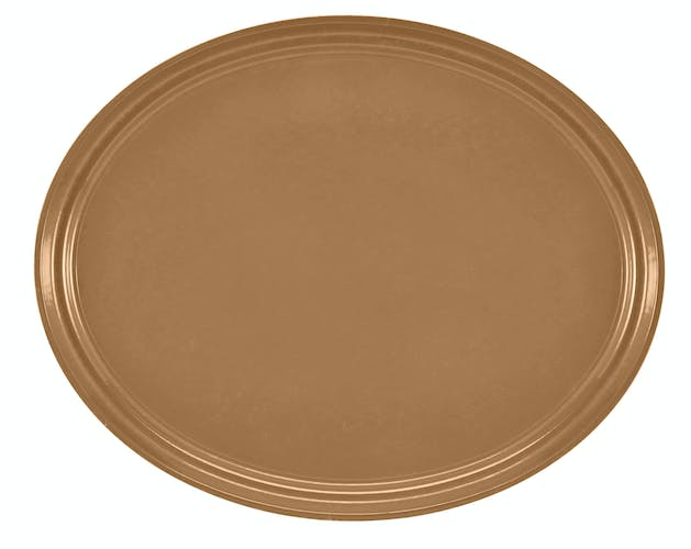"2500508 Camtray 19"" X 24"" Oval Suede Brown"