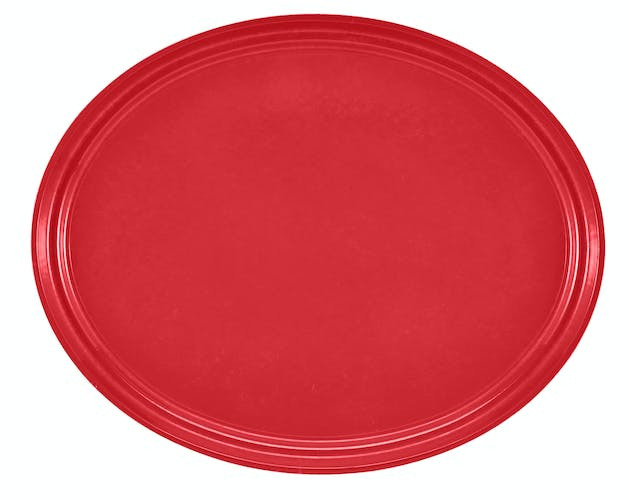 "2500510 Camtray 19"" X 24"" Oval Signal Red"