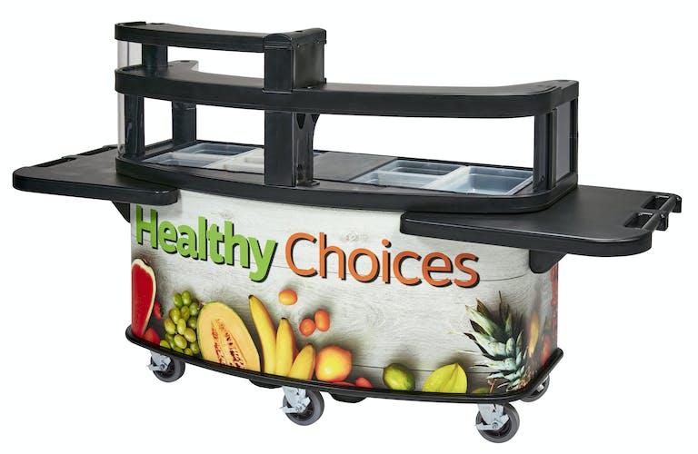 CVC75 Vending Cart w Merchandising & Table Accessories