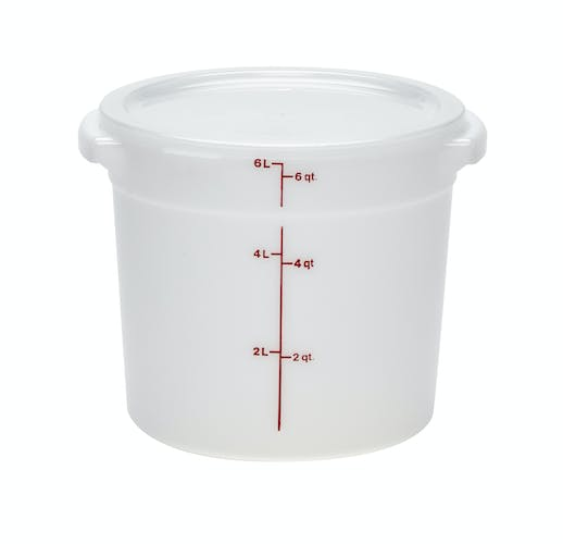 RFSC6148 Round Lid for 6 & 8 Quart Poly White